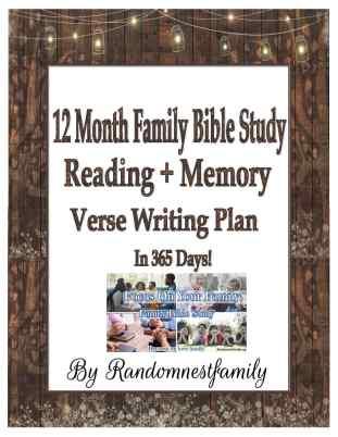 12 month family Bible Study Plan @randomnestfamily.org