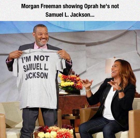 Morgan Freeman No Shirt
