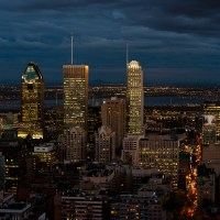 City Lights of Montreal from Mt. Royal