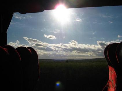 A long trip - evening approaching