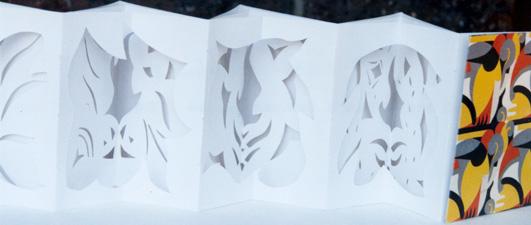 Cut out concertina close up