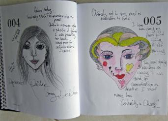 4. Depressed Deidre. Her face to wide and her eye is sitting over her hair. 5. Calamity inChaos