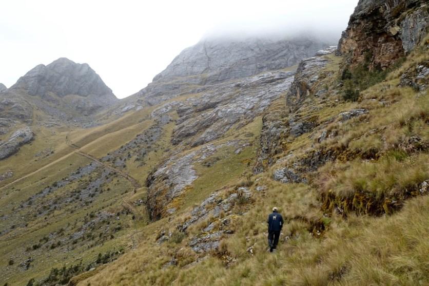 Walking along the Camino Inca...