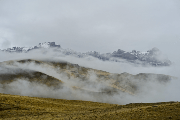 Even on an overcast day, the scenery is moody and alluring