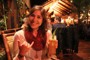Emily-Laborde-Hines-stops-for-a-refreshing-beverage-while-on-the-road
