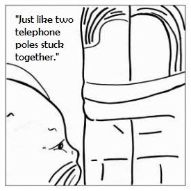 Cartoon-of-Brancus's-interpretation-of-The-Kiss