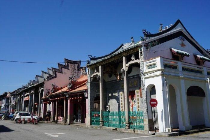 Barrio cantones en GeorgeTown, a la izquierda se encuentra el antiguo barrio portugués de la cuidad