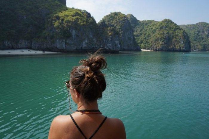 Inês en Lan Ha Bay
