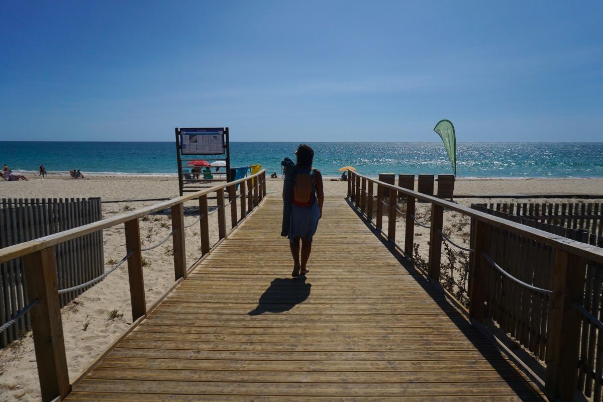 Llegando a la playa de Fuseta, en isla de Armona