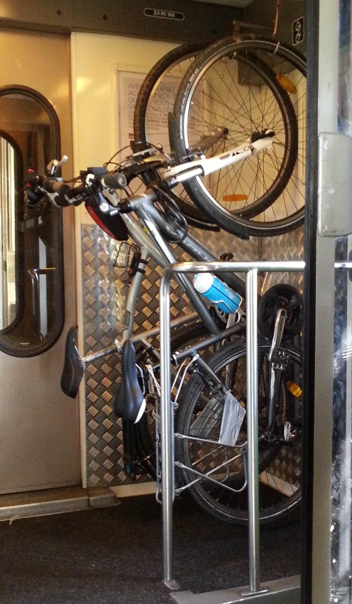 Vélos dans le train