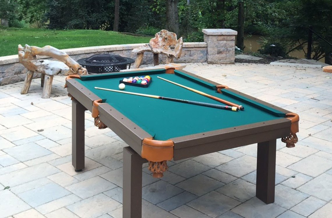 Oasis Outdoor Pool Table In Outdoor Livinge