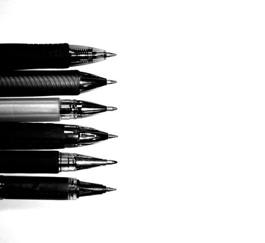 3 x FLAIR Inky Jumbo Fountain Pens Standard BLACK Ink Cartridges Refills