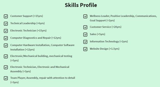 Skills Profile