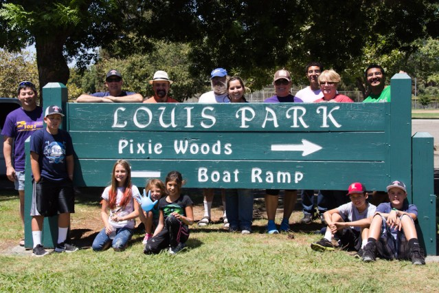 Louis Park entrance sign