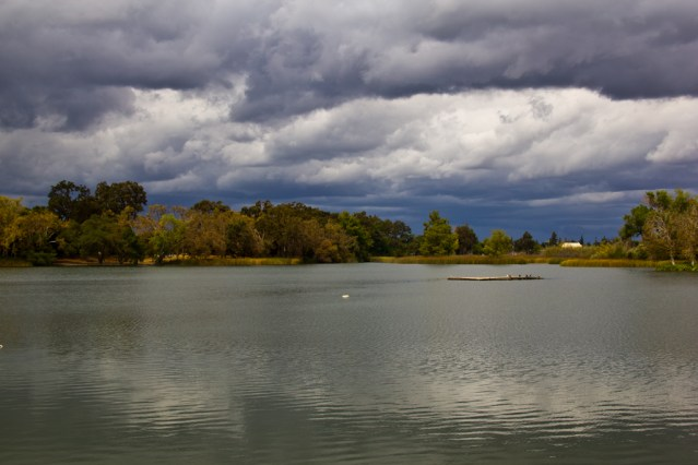 Storm clouds over Lodi Lake