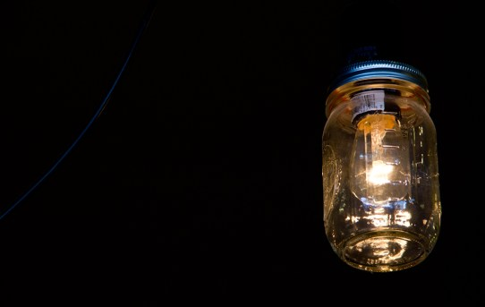 You can't hide light in a mason jar