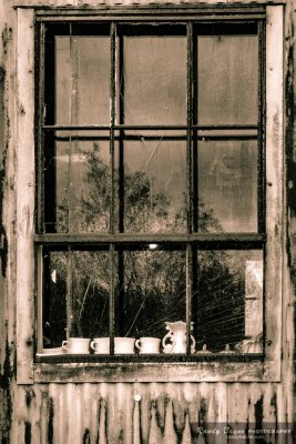 old tin gin window