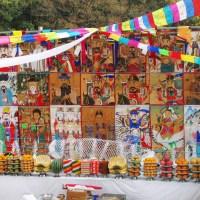 GPS | Korea:  Altar of a shaman for a ritual ceremony held on an island