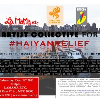 CAUSES | LaMaMa artist collective hosts performances and silent auction for #HaiyanRelief
