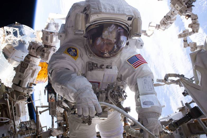 Jan. 6, 2017 — NASA astronaut Peggy Whitson during a spacewalk aboard International Space Station