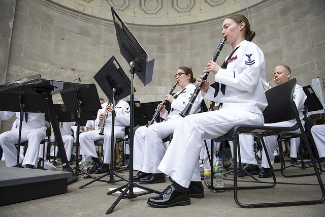 Navy Band Northeast performed for a crowd in Central Park during 2017 Fleet Week New York
