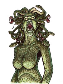 Medusa from tutorial in Creature Features Marker on bristol 9 X 12