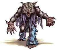 Werewolf from tutorial in Creature Features Marker on bristol 9 X 12
