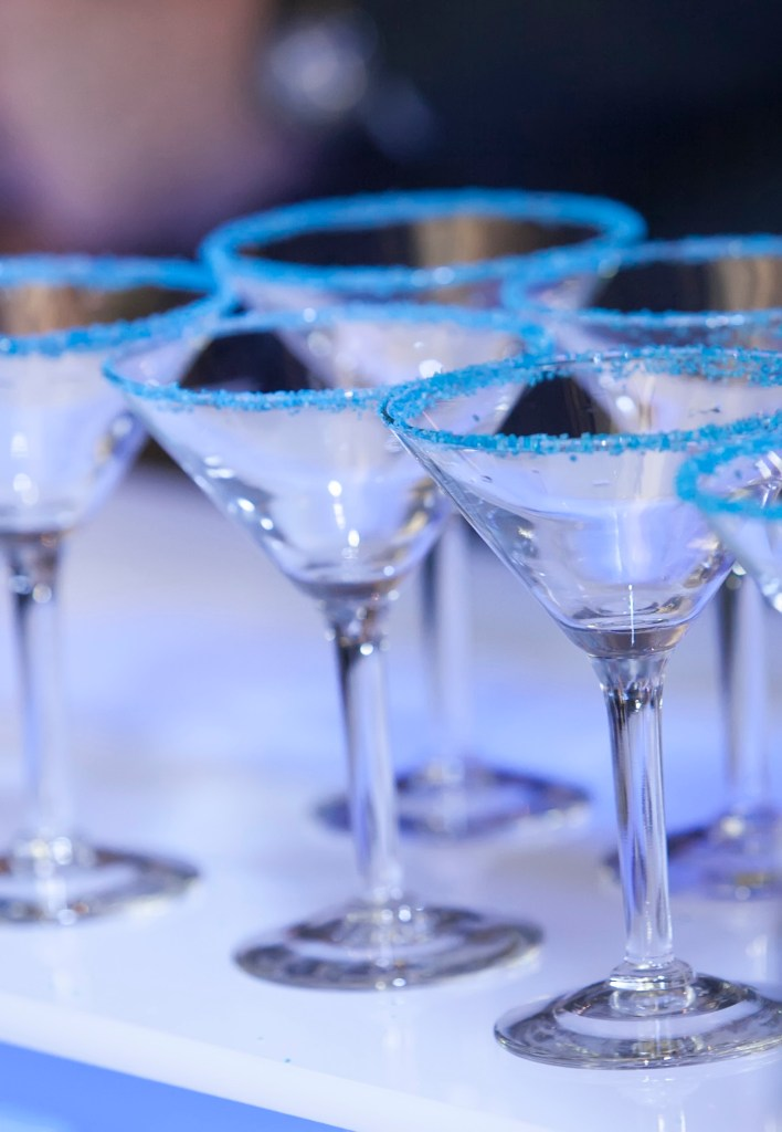 Blue Martini Glasses
