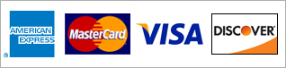 We Accept Visa, MasterCard, Visa and American Express