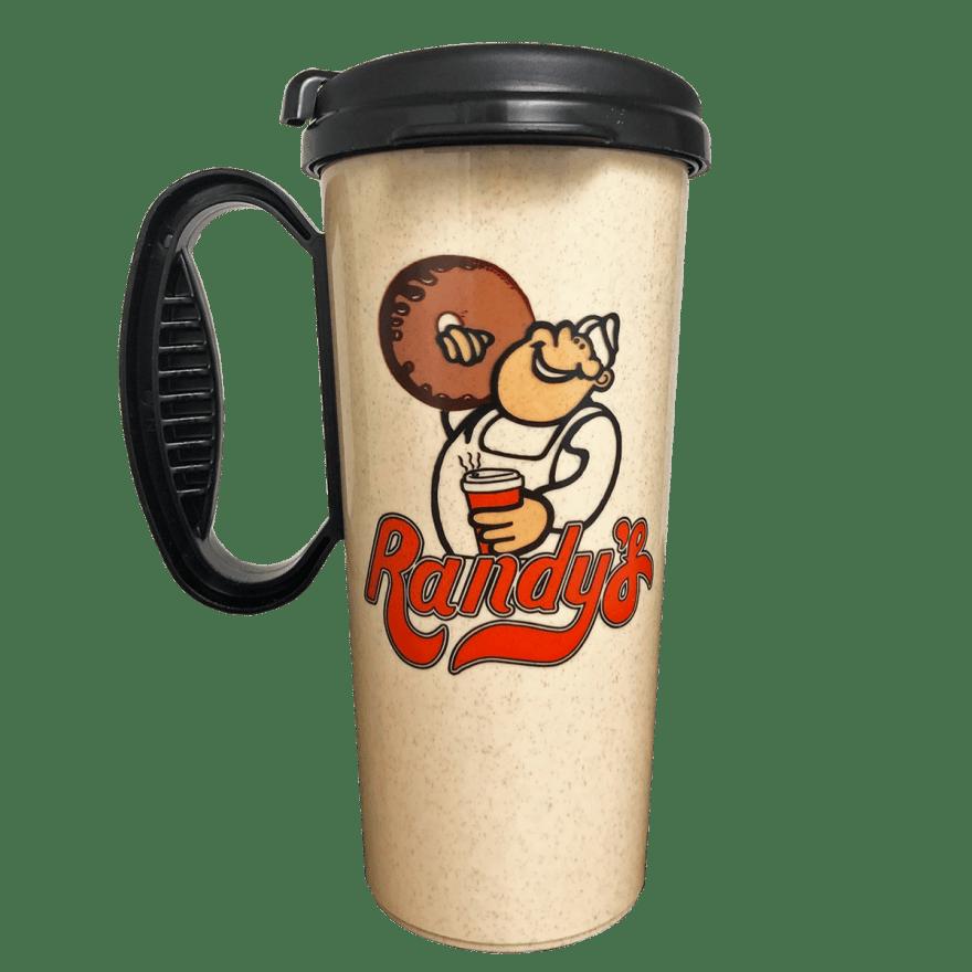 Randy's Donuts Travel Mug with large Randy's logo