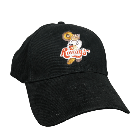Randy's Donuts Black Baseball Hat with Embroidered multi-color logo