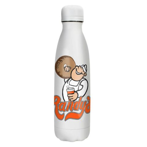 Randy's Donuts White Reusable Insulated Water Bottle