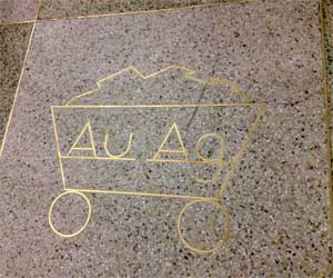 The bizarre denver international airport be brilliant on further investigation of the airport the periodic table symbol for gold and silver au ag appears throughout different areas of the airport urtaz Image collections