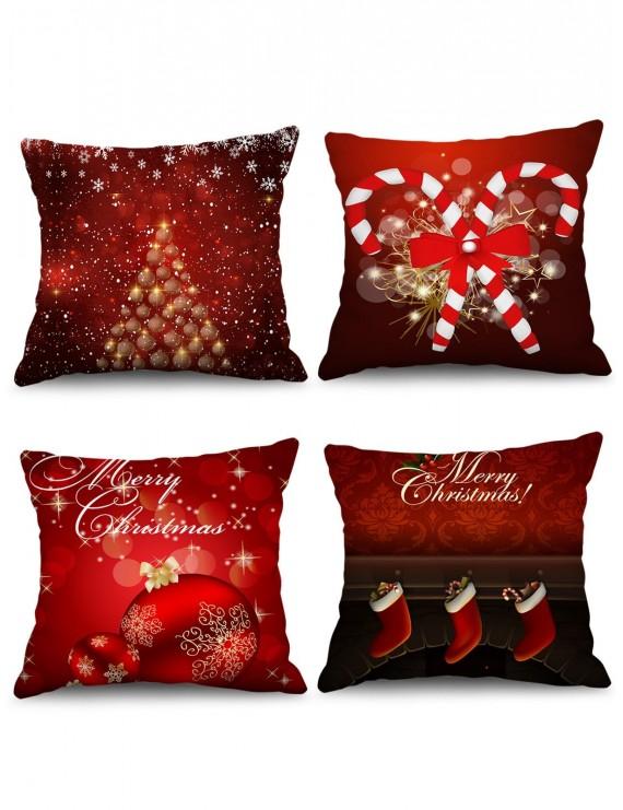 4pcs christmas ball candy cane stocking