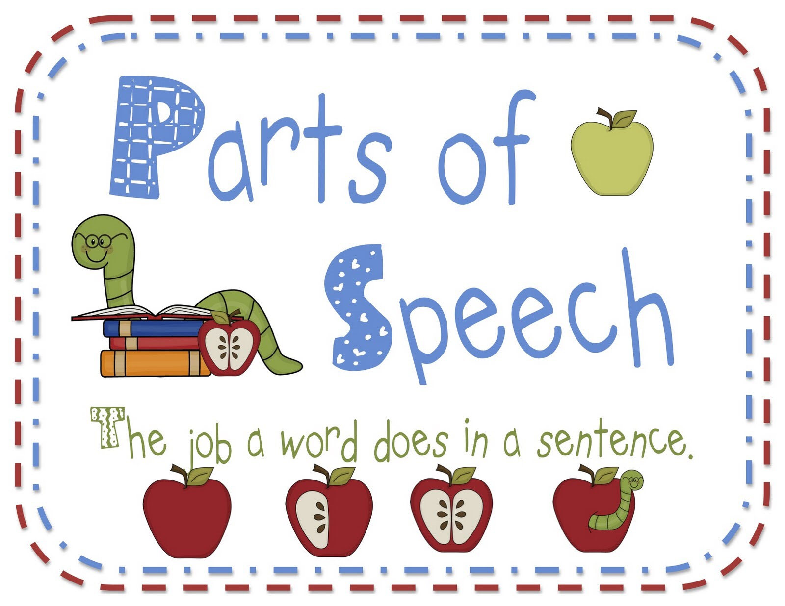 The Eight Parts Of Speech A Poem For Children Written By John Neale In Rang 4 Clonlara