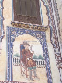 An Englishman painted on a haveli's wall