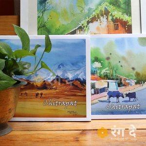 Chitrapat handmade Paper 270gsm by Rang De Studio, bangalore