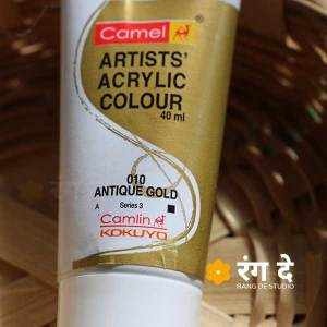 Buy Camlin Antique Gold Artists Acrylic Colours Camlin Online from Rang De Studio