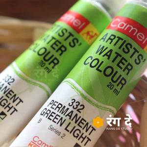 Buy Permanent Green light artist watercolour shade online from Rang De Studio