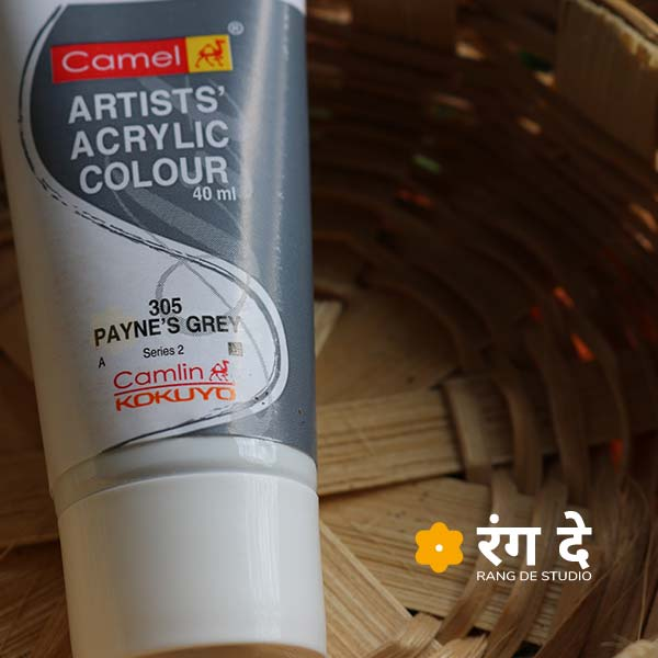 Buy Paynes Grey Artists Acrylic Colours Online from Rang De Studio