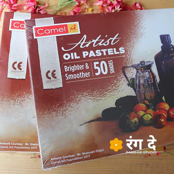 Artist Oil Pastels by Camlin, buy onlin from Rang De Studio
