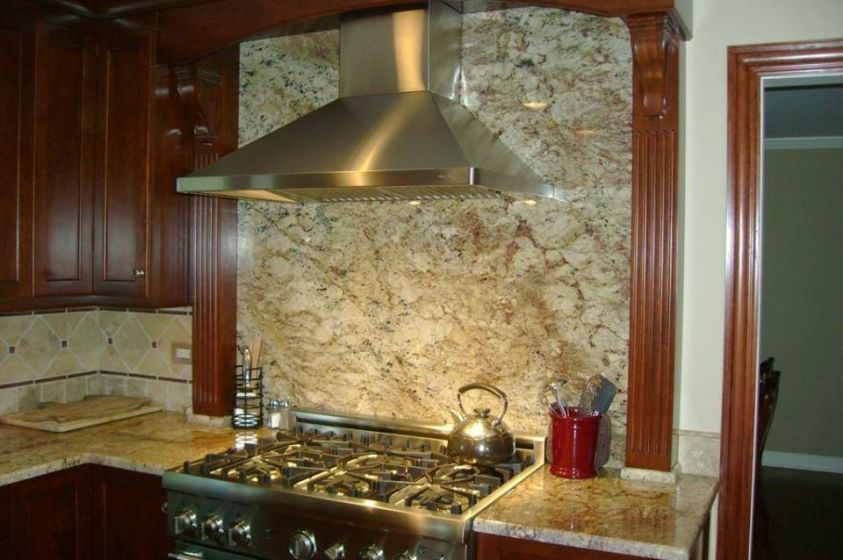 beautiful range hood under the cabinet