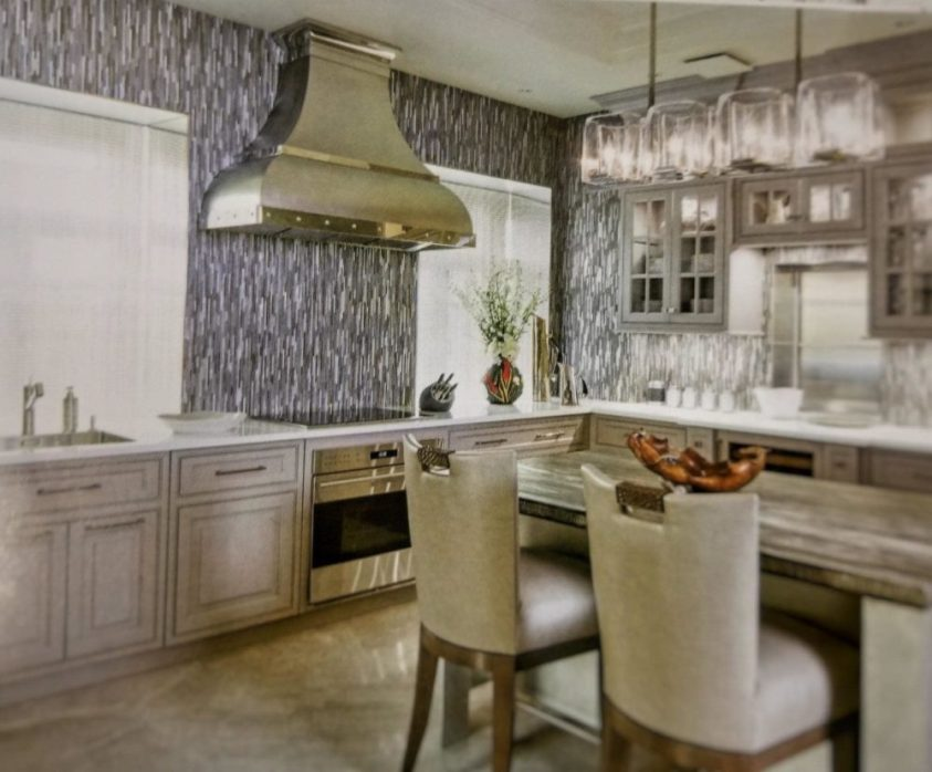 beautiful kitchen with a new range hood