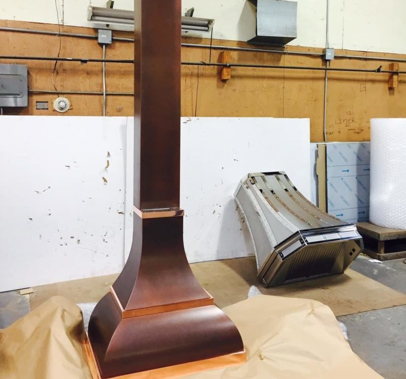 range hood before installation