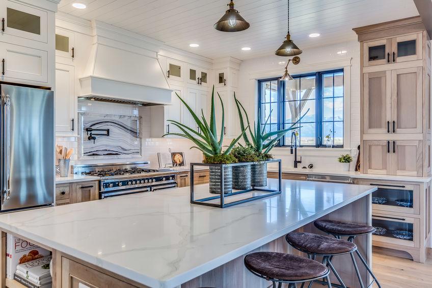 beautiful kitchen a luxury range hood