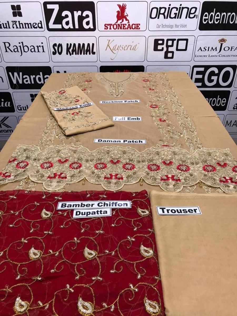 sania embroidered dresses