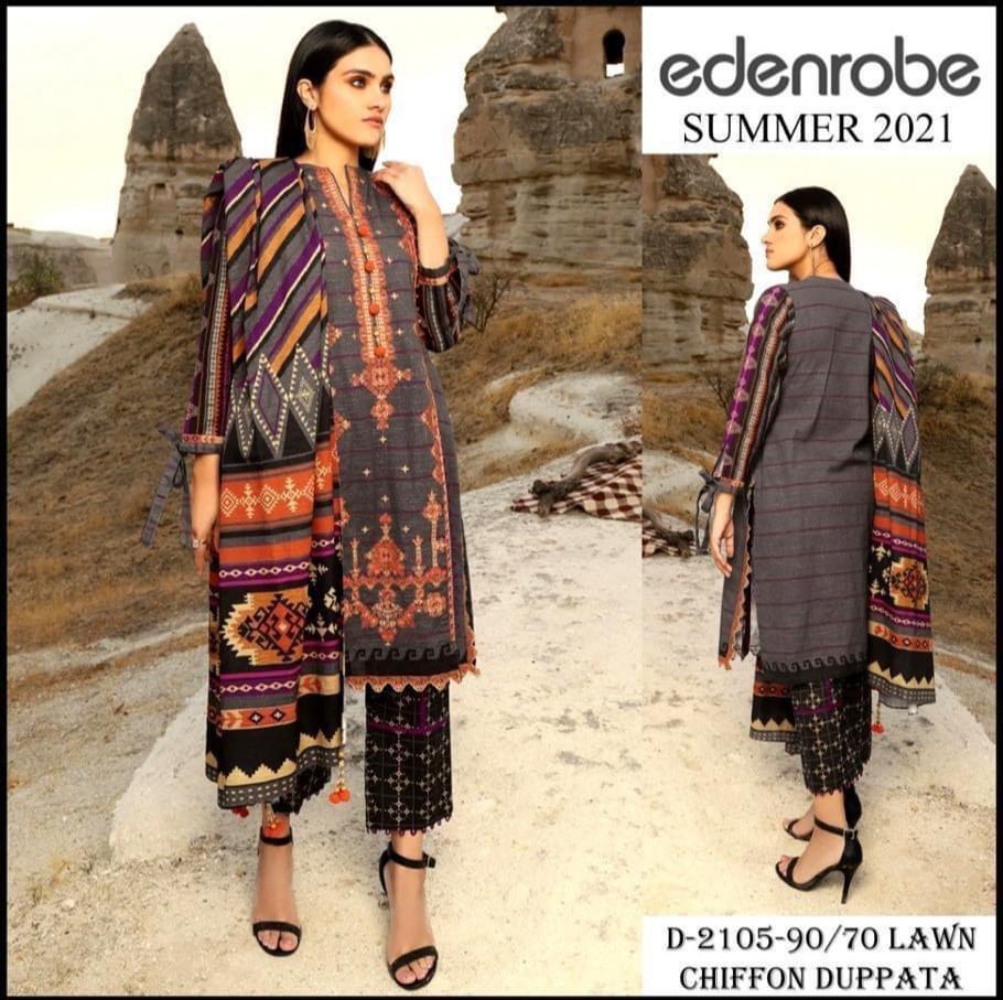 edenrobe unstitched designs 2021