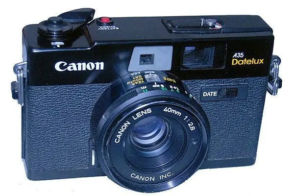 Canon A35 Datelux rangefinder film camera