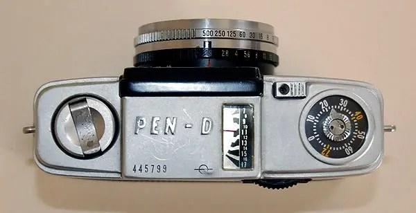Olympus Pen-D Half Frame selenium meter