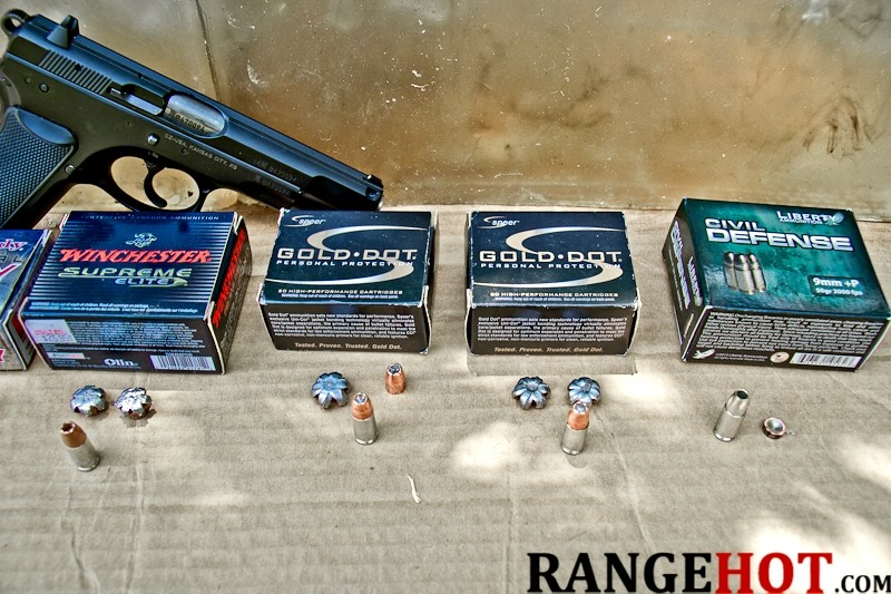 9mm Luger ballistic test